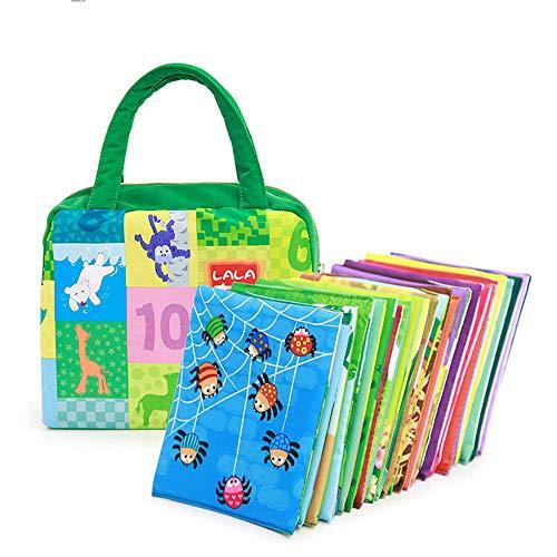 LVYE1 Lernspielzeug Tuchbuch Palm Buch Vorschulspielzeug Eltern-Kind-Interaktion Puzzle-Karten Kinderspielzeug 0-3 Jahre Alt