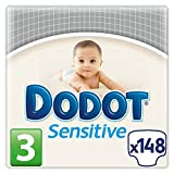 Dodot Sensitive, Talla 3, 2 packs de 74 [148 pañales]