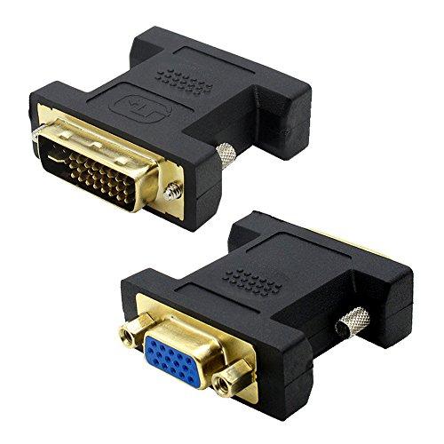 VMOJO DVI auf VGA Adapter DVI-I 24+5 Stecker zu VGA HD15 Buchse Konverter Digital auf Analog Adapter - Hd15 Stecker-vga Stecker
