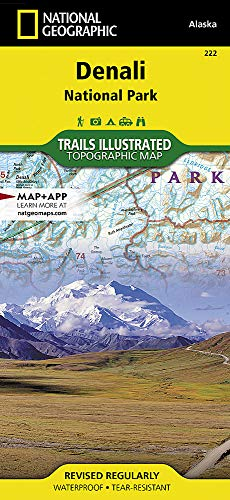 Denali National Park & Preserve: National Geographic Trails Illustrated Alaska (National Geographic Trails Illustrated Map, Band 222) - Alaska National Park
