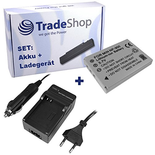 ANGEBOT IM SET: Hochleistungs Kamera Li-Ion Akku + Akku Ladegerät mit Kfz Adapter für Traveler Slimline X4 X5 X6 XS70 Voigtländer Virtus D4 D5 D6 D600 S6 Yashica Kyocera EZ4033 Jenoptik JD 10.0 Z3 SL
