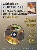 Partition - Methode de guitare jazz J. Bonal + CD