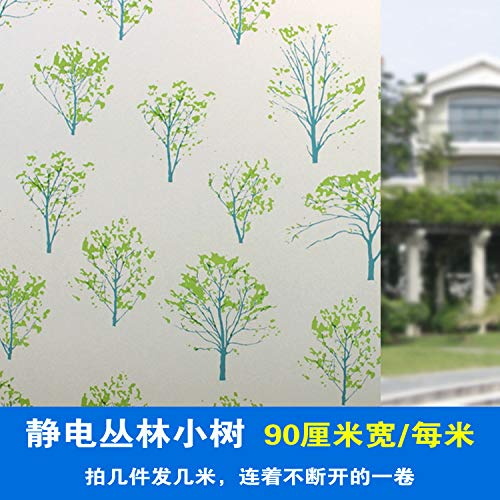 Lsaiyy vetro statico pellicola vetrofania adesivo bagno vetro autoadesiva pellicola carta da parati 90cmx2m