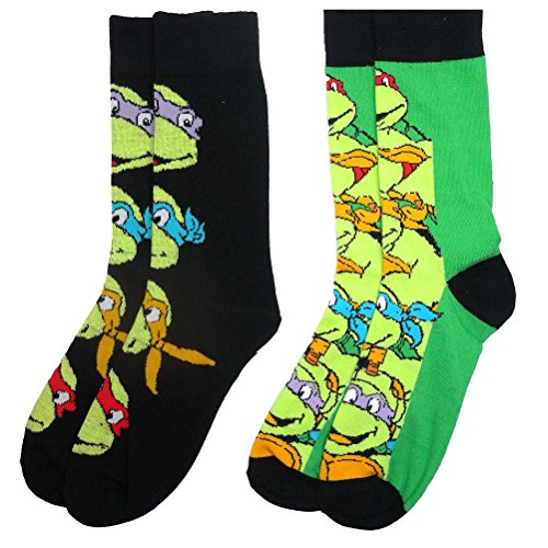 Teenage Mutant Ninja Turtles y1h306 Herren Socken (Größe 6–11, (Ninja Mutant Katana Leonardos Teenage Turtles)
