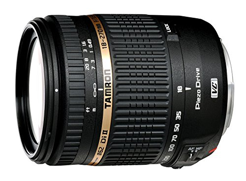Tamron AF 18 270mm F/3.5 6.3 Di II VC PZD Telephoto Zoom Lens with Hood for Nikon DSLR Camera