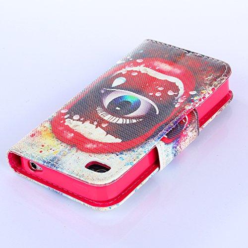 Beiuns Étui en Simili cuir pour Apple iPhone 4 4G 4S Housse Coque - N112 L'hirondelles s'envole (Be free) R139 mange œil