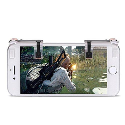 GENOVATION Mobile Game Controller [1 Paar], Handy Spiel Feuer Knopf, Schießen und Ziel Shortcut Key für PUBG/Regeln des Überlebens, Smartphone Gaming Controller für Android und iOS, - Zu Schießen, Gewinnen Um