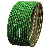 NEU. Touchstone indischen Bollywood Legierung Metall Strukturierte charmock grün Farbe Charming Thing Armreif Armbänder Set 12Stück für Damen.