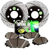 Approved Performance C1352 - [Front Kit] Performance Drilled/Slotted Brake Rotors and Carbon Fiber Pads by Approved Performance