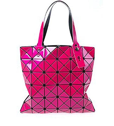 Sacchetto Lingge Geometrico Pieghevole Del Rombo Del Laser Pink