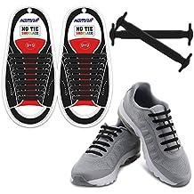 Homar sin corbata Cordones de zapatos para niños y adultos Impermeables cordones de zapatos de atletismo atlética de silicona elástico plano con multicolor de los zapatos del tablero Sneaker boots