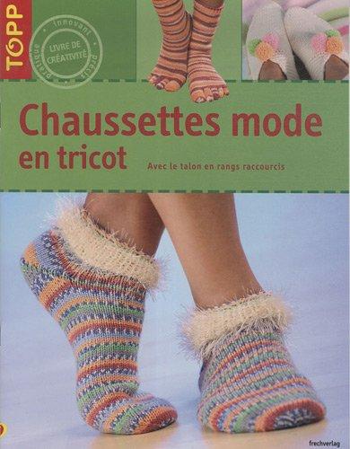 Chaussettes mode en tricot : Avec le talon en rangs raccourcis