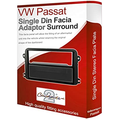 VW Passat Pannello Mascherina autoradio stereo radio adattatore finiture CD singolo surround - Vw Passat Interni