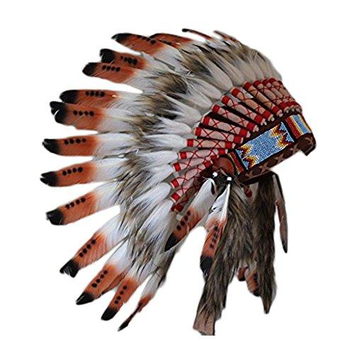 C20-Indianer Kopfschmuck für 5 bis 8 Jahre altes -
