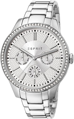 Esprit Alice Women's Quartz Watch with Silver Dial Analogue Display and Silver Stainless Steel Bracelet ES107132004