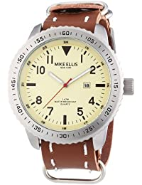 Mike Ellis New York  0 - Reloj de cuarzo para hombre, con correa de 0, color marrón