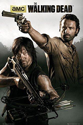 The Walking Dead Poster Rick Grimes & Daryl Dixon (61cm x 91,5cm) + Ü-Poster