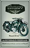 Blechschild Zündapp Modell DB 200 Nostalgieschild Motorrad retro Reklame Schild Moped Werbeschild