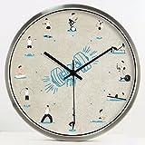 CNBBGJ Grand hôtel horloges, montres, décoration, musique et de sports, l'horloge suspendue mute, montres table créative,12 cm,UN