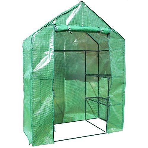 Foliengewächshaus begehbar Treibhaus Tomatenhaus Folienzelt WK5 – 71 x 142 x 194 cm