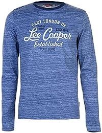 Lee Cooper Hombre Camiseta Texturizada Manga Larga Estampada