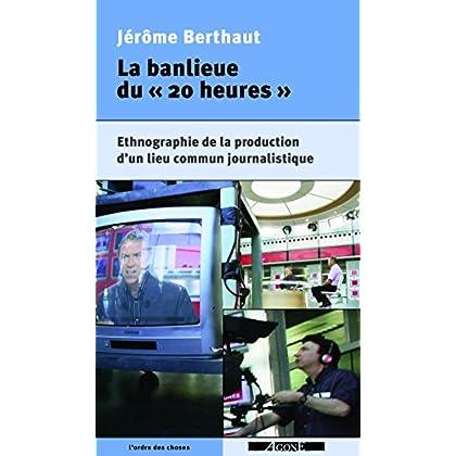 La Banlieue du « 20 heures »: Ethnographie de la production d'un lieu commun journalistique (L'Ordre des choses)