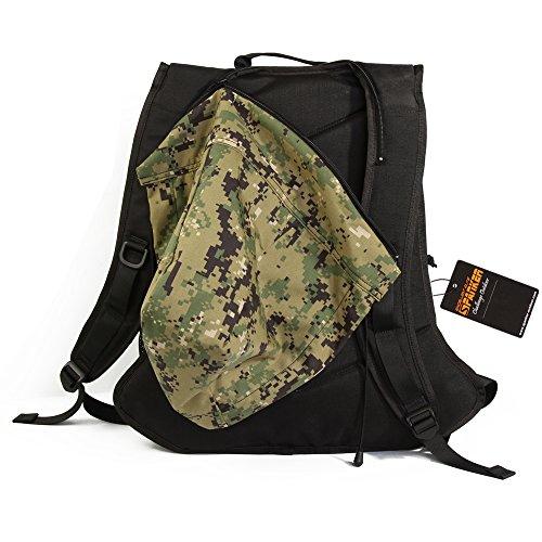 Hervorragende Elite Spanking Tactical Rucksack/Camouflage Laptop Rucksack/Molle Rucksack wasserabweisend mit Hat für dayuse, Outdoor Sport, Wandern, Camping, Reisen Schule BK/A2