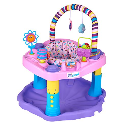 Maybesky Baby Walker Exersaucer Bounce 3-in-1 Activity Walker Walkers Baby Products Seated Or Walk-Behind Position Easy To Fold Fun Toys & Activities For Baby Rewards baby's
