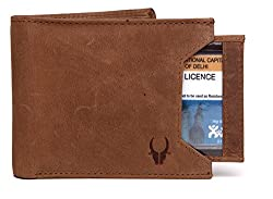 WildHorn Old River Genuine High Quality Mens Leather Wallet (Tan Hunter, Free Size)