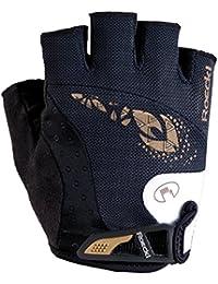 Roeckl Davilla para mujer guantes de ciclismo colour negro corto/2015 blanco, color  - negro, tamaño 6.5