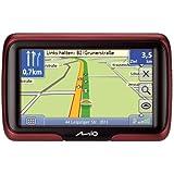 Mio Moov M405 Navigationsgerät (10,9 cm (4,3 Zoll) Touchscreen, 44 Länderkarten, TMC) schwarz/rot