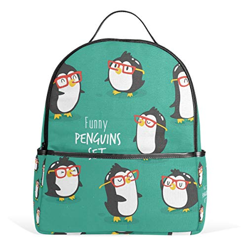 School Bag Cute Penguins Set Studentenrucksack for Boys Teen Girls Kids (Teen Cute Boys)