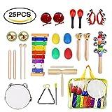 ULIFEME Instrumentos Musicales para Infantil, 25pcs Juguetes...