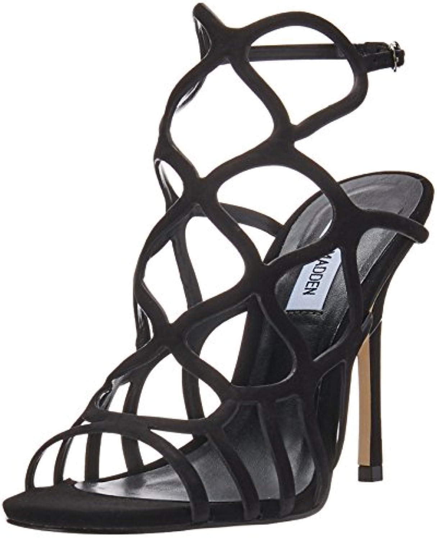 Steve Madden Wouomo Teagen Caged Sandal nero Nubuck 10 M US | I Consumatori In Primo Luogo  | Uomini/Donne Scarpa