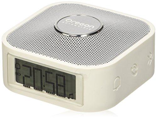 Oregon Scientific CP100_S - Reloj inteligente con altavoz bluetooth para música, blanco