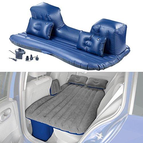 Lescars Luftbett: Aufblasbares Bett für den Auto-Rücksitz mit 12-V-Luftpumpe (Aufblasbares Sofa)