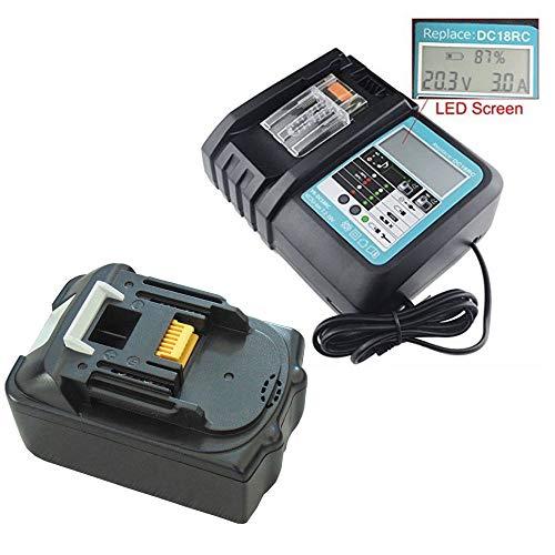 FengBP®️ Für 5A 18V 5000mAh Akku Makita BL1850 B BL1830 B L1840B BL1815 BL1815N Li-Ion+Ladegerät DC18RC DC18RA -