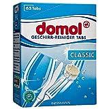 domol Geschirr-Reiniger Tabs Classic 845 g 65 Tabs x 13 g gründliche Reinigung, für fleckenlosen Glanz, schont Gläser und Dekor, für Silberbesteck geeignet