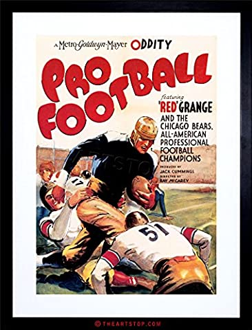 MOVIE FILM PRO FOOTBALL SPORT SHORT CHICAGO BEARS USA FRAMED PRINT F12X4130