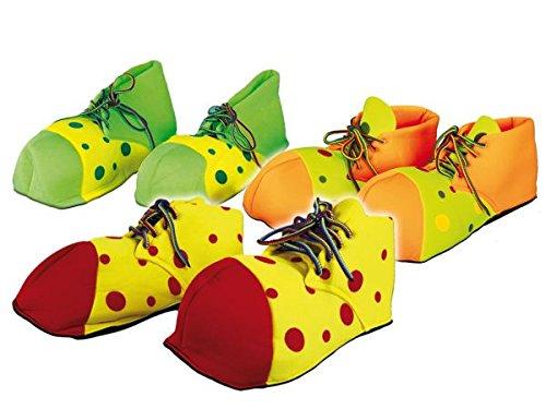 Atosa 69793Payaso Zapatos para niños, 28cm, Color Rojo/Verde