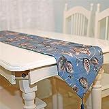 JIAJU High-End Fluid Systems Polyester Tischdecken Europäischer und amerikanischer Stil Französisch Japanisch chinesischer Stil Klavier Restauranttische Teetisch Meal Beistellschrank Kommode blau