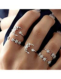 2Pcs//Set Simple Adjustable Alloy Shark Open Rings Unisex Party Jewelry Gift Conv