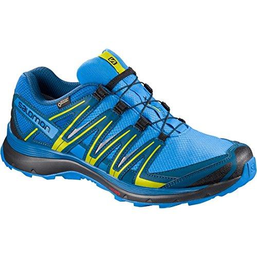 L39030100, Zapatillas de Trail Running para Hombre, Negro/Azul (Black/Bright Blue/Gecko Green), 42 EU Salomon
