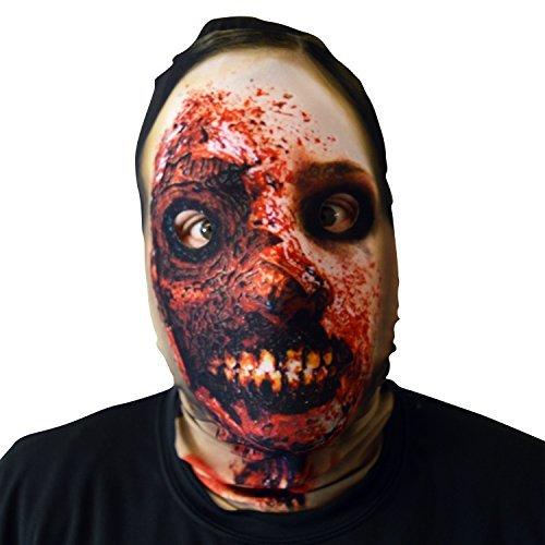 3D Effekt Smiley Zombie Face Haut Sensenmann Halloween Horror Maske hergestellt in - Smiley Scary Halloween