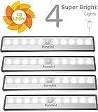 RuneSol Lampes Détecteur de Mouvement rechargeables / 4 x 10 bandes LED...