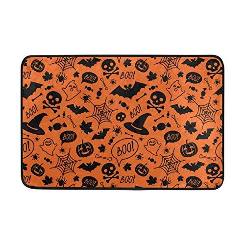 ZHIZIQIU PLAO Doormat Halloween Festive Outdoor Mats, Non Slip Door Mat for Entrance Way Front Door Inside Outside 23.6