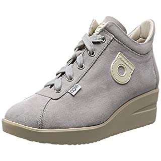 Agile By Rucoline Fashion-Sneakers Womens Grey 5.5 UK