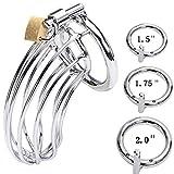 Dispositivo masculino de acero inoxidable, dispositivo de bloqueo para hombres (3 anillos)