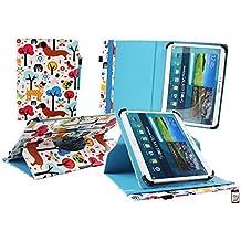 Emartbuy Sunstech TAB109QC 10.1 Pulgadas Tablet PC Universal ( 9 - 10 Pulgadas ) Multicolor Cachorros 360 Grados Giratorio Caso Cubrir Cover + Stylus