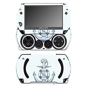 Disagu SF-14232_1034 Design Folie für Sony PSP Go – Motiv Anker blau transparent